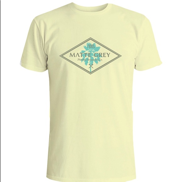 Matte Gray Other - 📦Modern palm tree T-shirt SZlarge mellow yellow